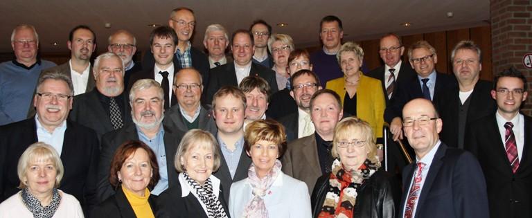 Die Direktkandidaten mit dem designierten Landratskandidaten Hans-Joerg Deichholz