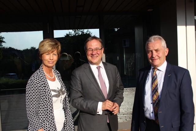 Kreisvorsitzende Kirstin Korte MdL, Landesvorsitzender Armin Laschet MdL, Friedhelm Ortgies MdL