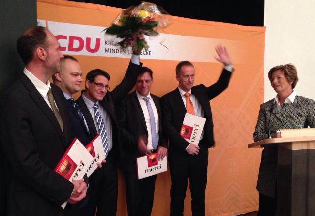 v.l.n.r.: Sven Öpping, Frank Fuhrmann, Dr. Oliver Vogt, Michael Behrens, Meik Blase und Kirstin Korte