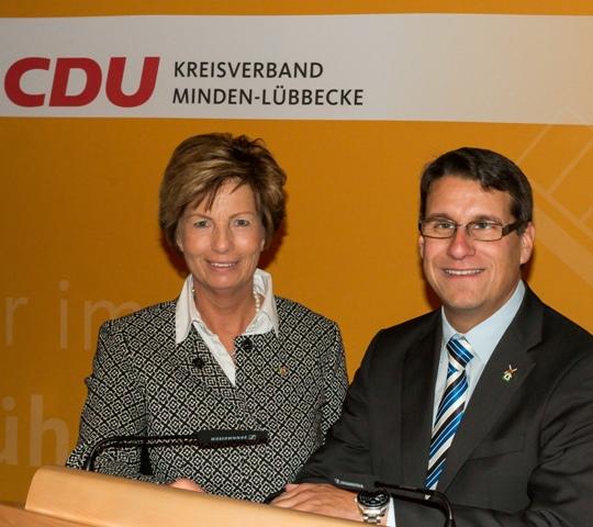 Kreisvorsitzende Kirstin Korte MdL und Dr. Oliver Vogt, stv. Kreisvorsitzender und Bundestagskandidat für die CDU Minden-Lübbecke