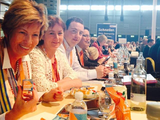 Die Minden-Lübbecker Delegierten mit Kirstin Korte MdL, Bianca Winkelmann, Christoph Hartke u.a.