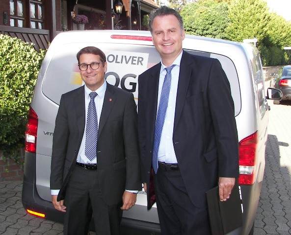 Bundestagskandidat Dr. Oliver Vogt und der Parlamentarische Staatssekretär beim Bundesminister des Inneren Dr. Günter Krings