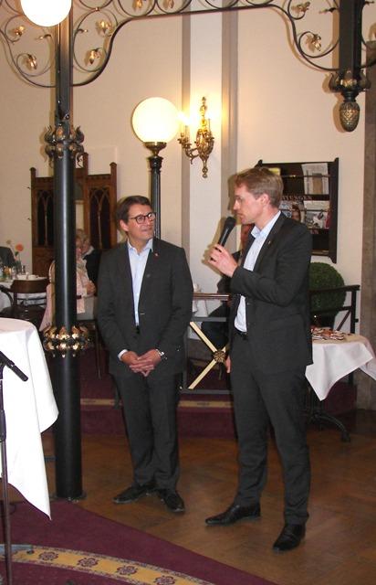 BUndestagskandidat Dr. Oliver Vogt mit dem Ministerpräsidenten des Landes Schleswig-Holstein Daniel Günther