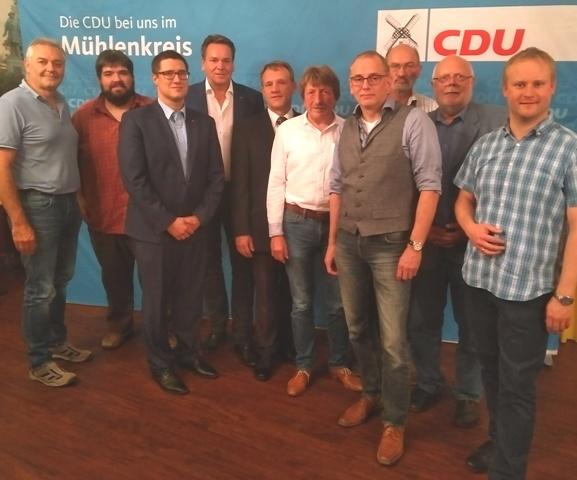 Der neue Vorstand der Kommunalpolitischen Vereinigung (KPV) im Mühlenkreis