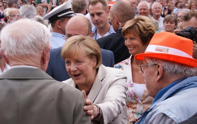 Bundeskanzlerin Angela Merkel auf dem Mindener Marktplatz 2013