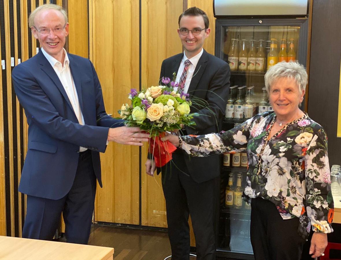 Detlef Beckschewe (Fraktionsvorsitzender), Frank Rabe (stellv. Fraktionsvorsitzender) und Brigitte Sawade-Meyer (stellv. Fraktionsvorsitzende)