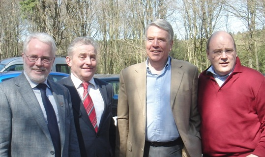Karl Erich Schmeding, Friedhelm Ortgies und Steffen Kampeter empfangen Finanzminister Dr. Linssen
