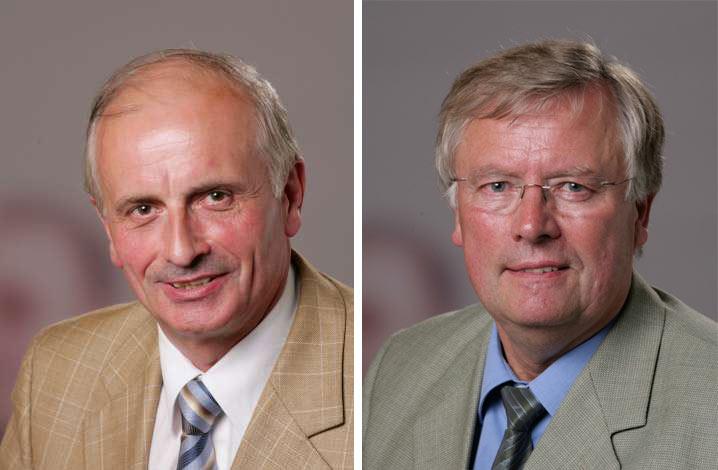 Fraktionsvorsitzender Friedrich Klanke und Stellvertreter Ernst-August Schrewe